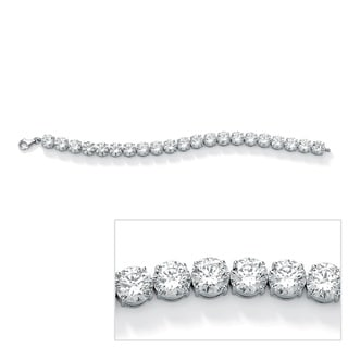 Ultimate CZ Platinum-plated Round Cubic Zirconia Tennis Bracelet