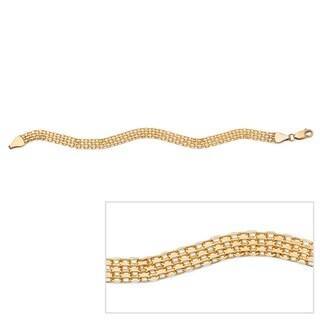 PalmBeach 10k Yellow Gold 7.5-inch Bismark Link Bracelet Tailored