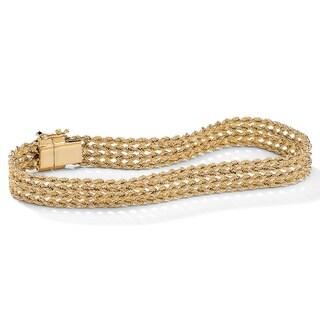 PalmBeach 10k Yellow Gold 7.25-inch Braided Rope Bracelet Tailored