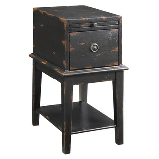 Creek Classics Distressed Black Chair Side Chest