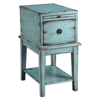 Creek Classics Distressed Blue Chair Side Chest