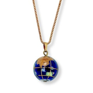 PalmBeach 14k Goldplated Multi-gemstone Mosaic Globe Necklace Color Fun