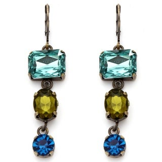Lillith Star Blue and Green Faceted Lucite Earrings