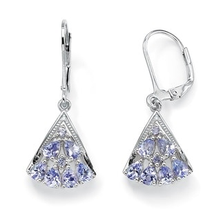 PalmBeach Tanzanite and Diamond Drop Earrings