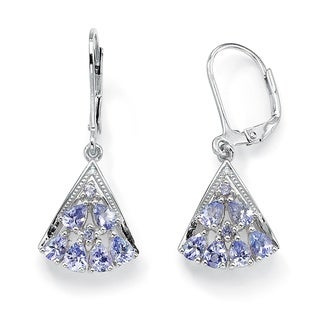 Angelina D'Andrea Tanzanite and Diamond Drop Earrings