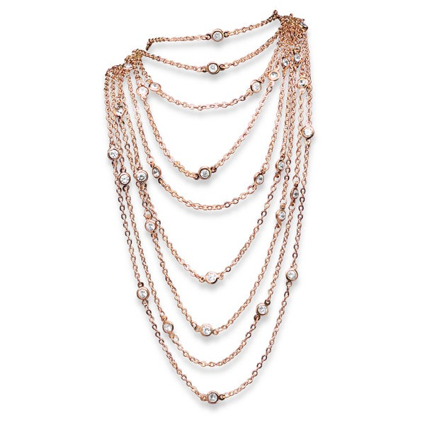 Isabella Collection Cubic Zirconia Station Necklace