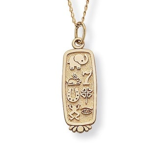 Toscana 14-karat Yellow Gold Good Luck Pendant