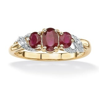 Angelina D'Andrea 10k Gold Ruby and Diamond Accent Ring