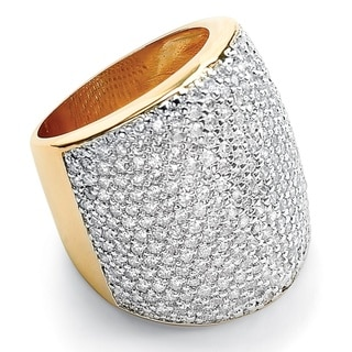 Isabella Collection Gold Overlay Pave-Set Cubic Zirconia Band