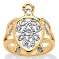 Toscana Filigree Turtle Ring in 18k Gold-Plated