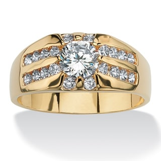 Ultimate CZ Men&#39;s 14k Gold-plated Cubic Zirconia Ring