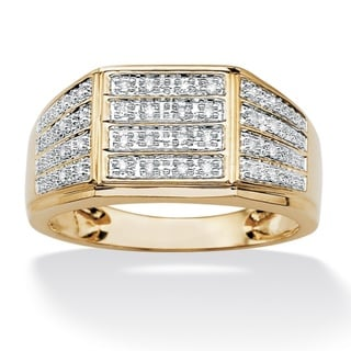 Isabella Collection Men's 18k Gold over Silver Diamond Ring (H-I, I1-I2)