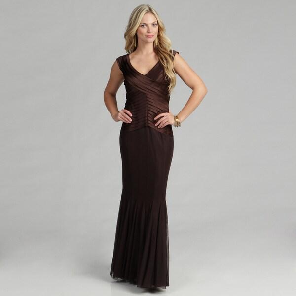 Issue New York Women's Brown Laser Cut Mermaid Dress