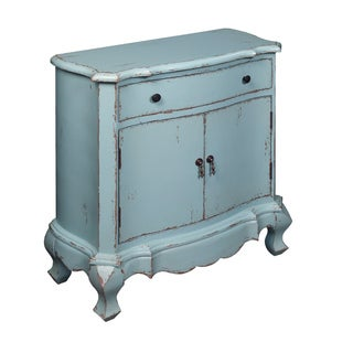 Creek Classics One Drawer Two Door Antique Blue Cabinet