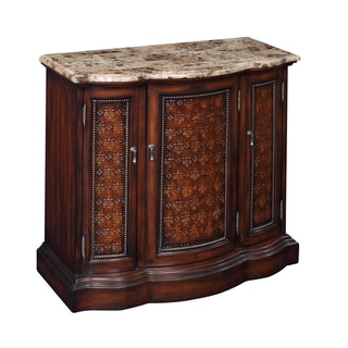 Creek Classics Marble Top Pendant Console Chest