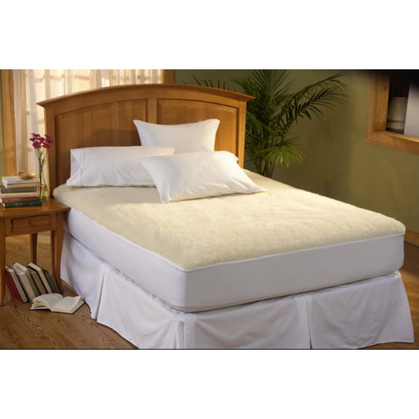Soothing Comfort Natural Wool Fleece Mattress Pad