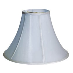Bright White White Silk Bell Shade