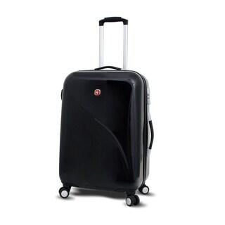 Wenger Swiss Gear Black 24-inch Hardside Spinner Upright Suitcase