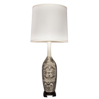 White and Black Parisian Table Lamp