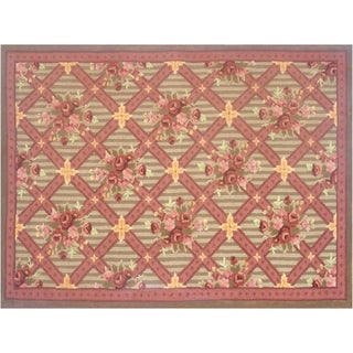 Garden Affairs Hand-made Wool Rug (5' x 8')