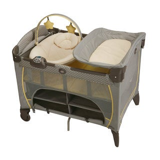 Graco Pack 'n Play Playard with Newborn Napper Station DLX in Peyton