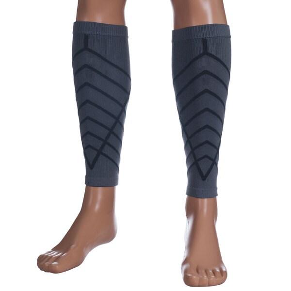 Remedy Grey Calf Compression Running Sleeve Socks