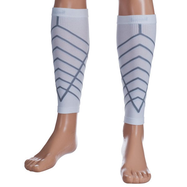 Remedy White Calf Compression Running Sleeve Socks