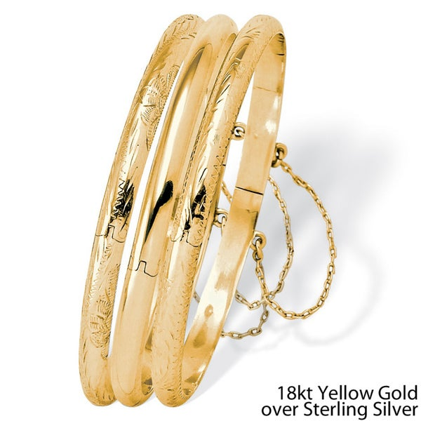 PalmBeach 18k Gold over Sterling Silver Bracelet Tailored