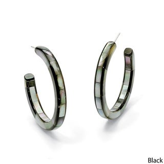 Angelina D'Andrea Mother-of-Pearl Hoop Earrings
