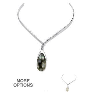 Angelina D'Andrea Mother of Pearl Drop Pendant