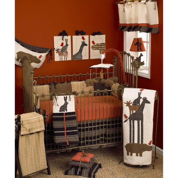 Cotton Tale Animal Stackers Fitted Crib Sheet