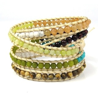 Nature's Parade Multistone Medley Five Wrap Bracelet (Thailand)
