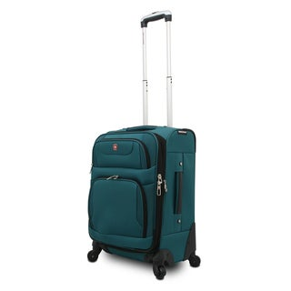 SwissGear SA7297 Teal 20-inch Expandable Carry-on Spinner Upright Suitcase