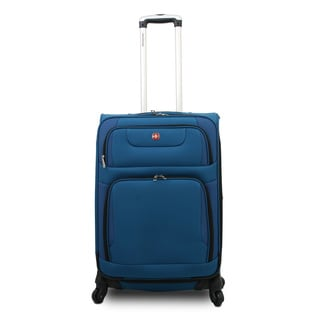 SwissGear SA7297 Collection 20-inch Blue Expandable Carry-on Spinner Upright