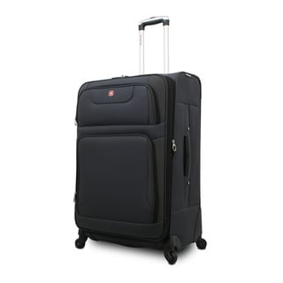 SwissGear SA7297 Grey 20-inch Expandable Carry On Spinner Upright Suitcase
