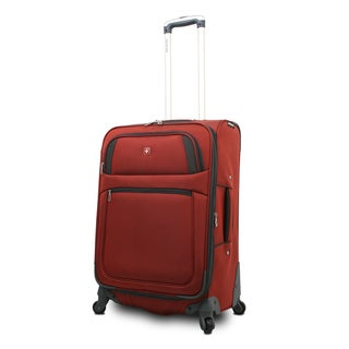 SwissGear Collection 24-inch Rust Expandable Spinner Upright Suitcase