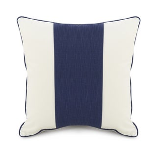 Oilo Cobalt Blue Striped 18 x 18 Pillow
