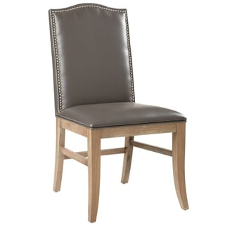 Sunpan Maison Leather Reclaimed Leg Dining Chairs (Set of 2)