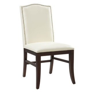 Sunpan Maison Leather Brown Legs Dining Chairs (Set of 2)