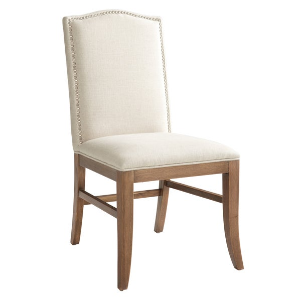 Sunpan Maison Fabric Reclaimed Leg Dining Chairs (Set of 2)