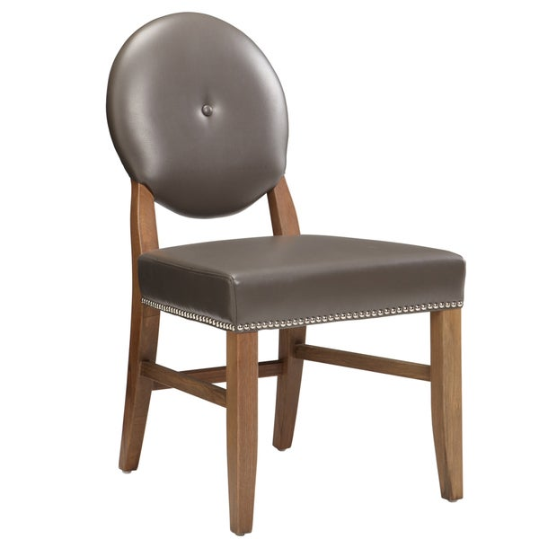 Sunpan Florence Dining Leather Dining Chair (Set of 2)