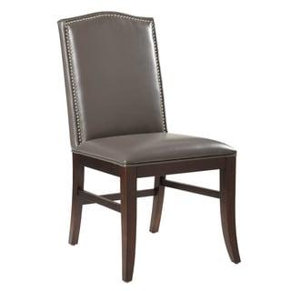 Sunpan Maison Grey Leather Dining Chair (Set of 2)