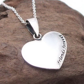 Sweet 'Friends Forever' Sterling Silver Necklace (Thailand)