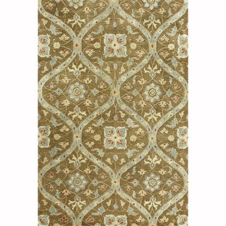 Handtufted Ferring Mocha Wool Rug (5' x 7'6)