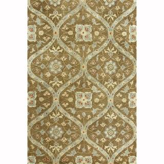 Hand-tufted Ferring Mocha Wool Rug (5' x 7'6)
