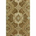 Hand-tufted Ferring Brown Wool Rug (3'6 x 5'6)