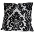 Ann Marie Lindsay 20-inch Black and White Damask Decorative Pillow Cover