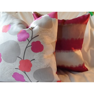 Ann Marie Lindsay Reversible Stripe and Floral Decorative Pillow Cover
