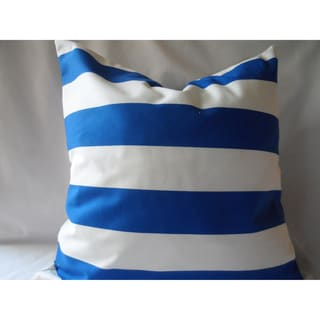 Ann Marie Lindsay 20-inch Blue and White Stripe Decorative Pillow Cover