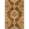 Hand-tufted Ferring Brown Wool Rug (5' x 7'6)